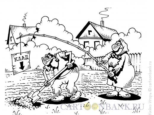 Карикатура: Креативная бабушка, Кийко Игорь