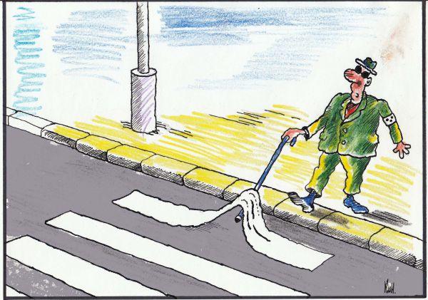 Карикатура: Переход, Николай Кинчаров