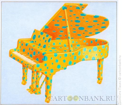 Карикатура: рояль в горошек, Далпонте Паоло
