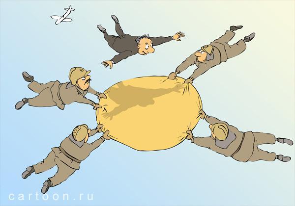 Карикатура: Полет, Зудин Александр