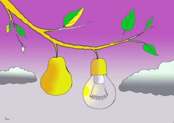 Карикатура: Висит груша-нельзя кушать, Николай Кинчаров