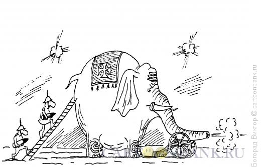Карикатура: Залп, Богорад Виктор