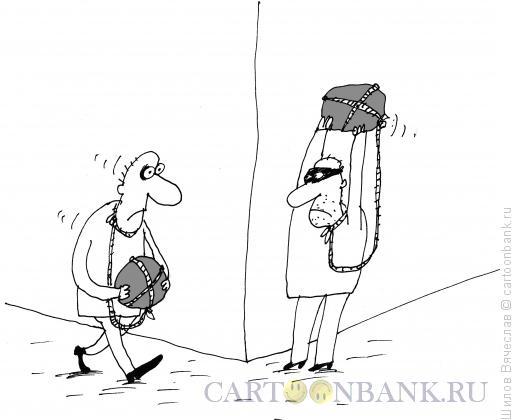 Карикатура: Встреча, Шилов Вячеслав