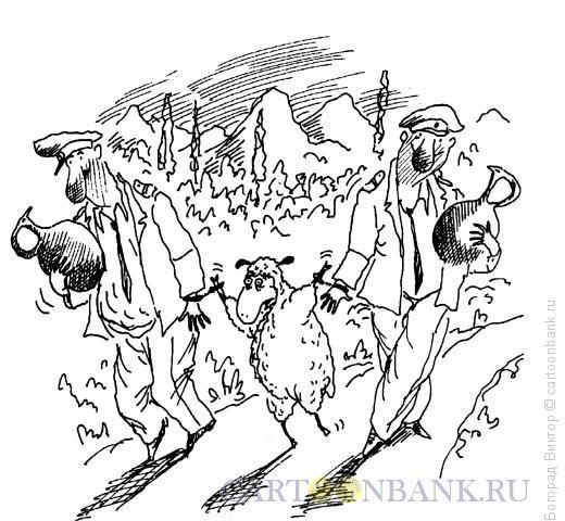 Карикатура: Арест закуски, Богорад Виктор