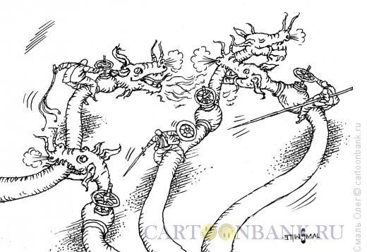 Карикатура: Газовые войны, Смаль Олег
