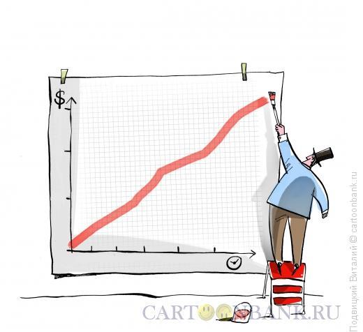 Карикатура: Время и деньги, Подвицкий Виталий