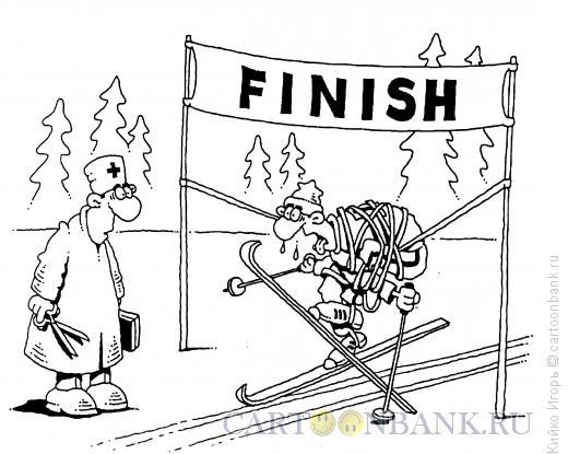 Карикатура: Досадный финиш, Кийко Игорь