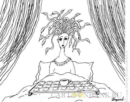Карикатура: Пробуждение Медузы Горгоны, Богорад Виктор