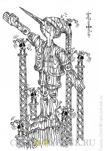 Карикатура: Культ личности Буратино., Смаль Олег