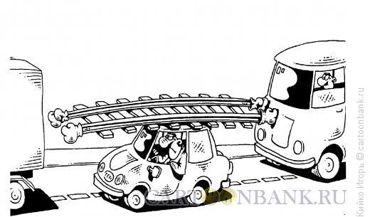 Карикатура: Рельсы-рельсы, шпалы-шпалы..., Кийко Игорь