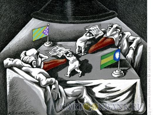 Карикатура: Ринг, Дружинин Валентин