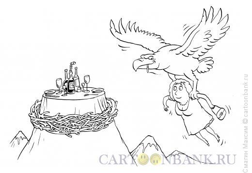 Карикатура: Галантный орел, Смагин Максим