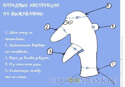Карикатура: Инструкции по выживанию, Шилов Вячеслав