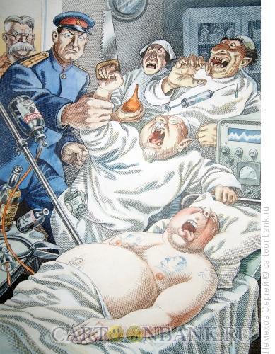 Карикатура: История СССР. Врачи-вредители, Лемехов Сергей