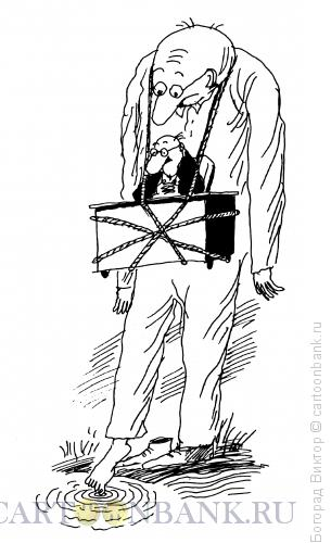 Карикатура: Камень на шее, Богорад Виктор