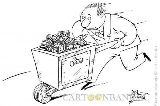 Карикатура: Валютная тачка, Смагин Максим