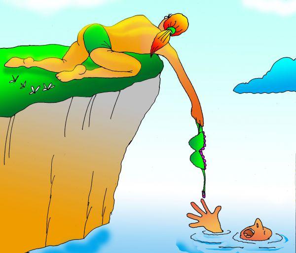 Карикатура: Однажды летом, Николай Кинчаров