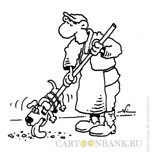 Карикатура: Креативный дворник, Кийко Игорь