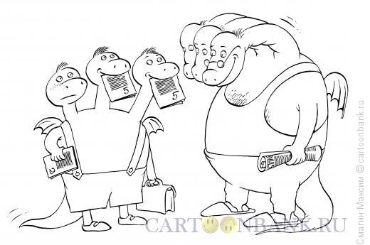 Карикатура: Проверка знаний, Смагин Максим