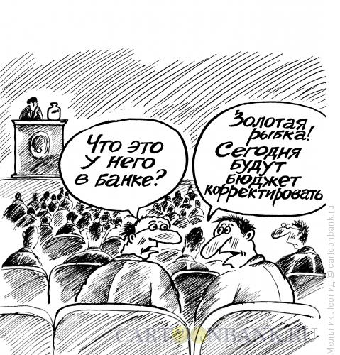 Карикатура: Корректировка, Мельник Леонид