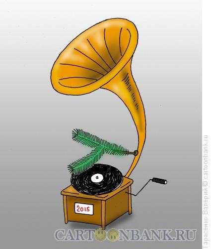 Карикатура: Новогодний мотив, Тарасенко Валерий