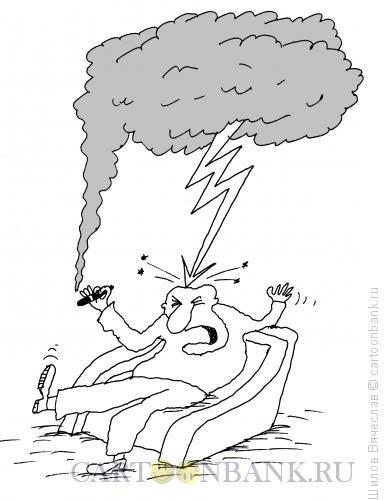 Карикатура: Курение приносит вред, Шилов Вячеслав