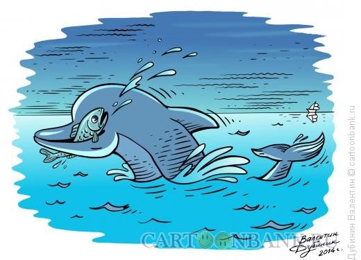 """Карикатура: Перевёртыш """"Любители рыбы"""", Дубинин Валентин"""
