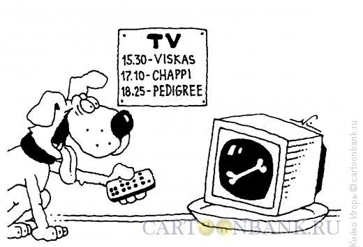 Карикатура: Верный телезритель, Кийко Игорь