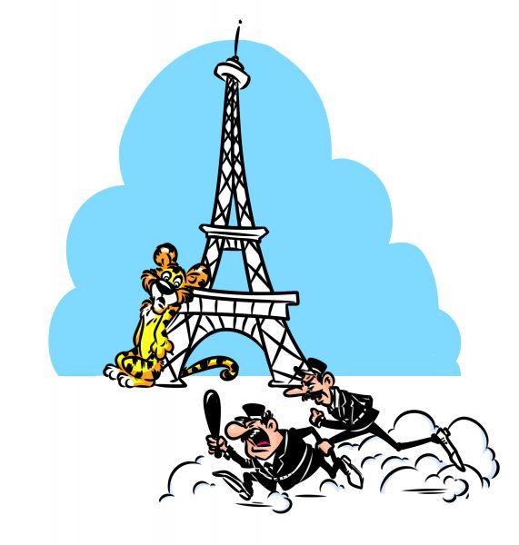Карикатура: В Париже полиция ищет сбежавшего Тигра, Эфен Гайдэ