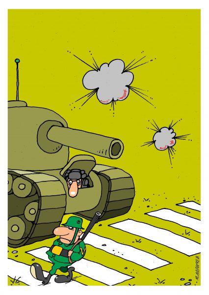 Карикатура: война войной..., михаил ларичев