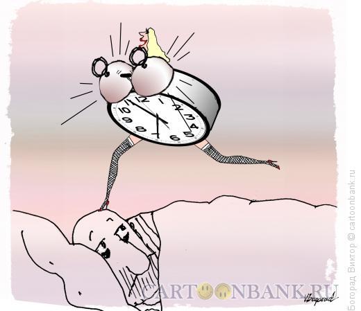 Карикатура: Будильник-женщина, Богорад Виктор