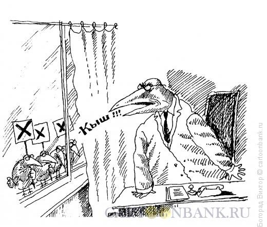 Карикатура: Кыш!, Богорад Виктор