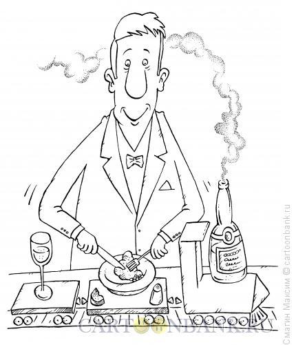 Карикатура: Поезд с едой, Смагин Максим