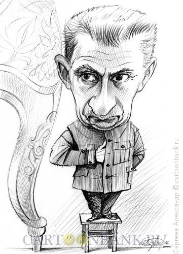 Карикатура: Керенский Александр, премьер временного правительства, Сергеев Александр