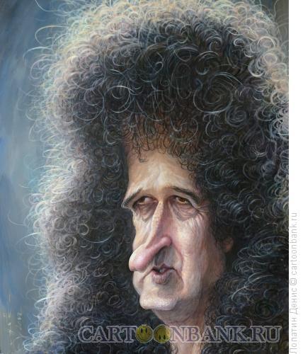 Карикатура: Sir Brian May, Лопатин Денис