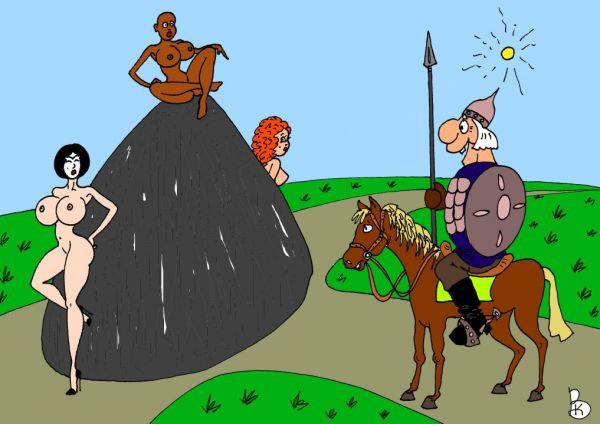 Карикатура: Витязь, Валерий Каненков