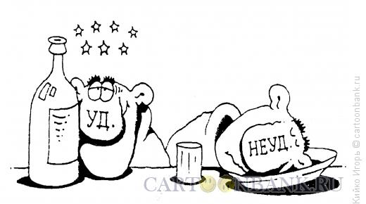 Карикатура: Уд. и неуд., Кийко Игорь
