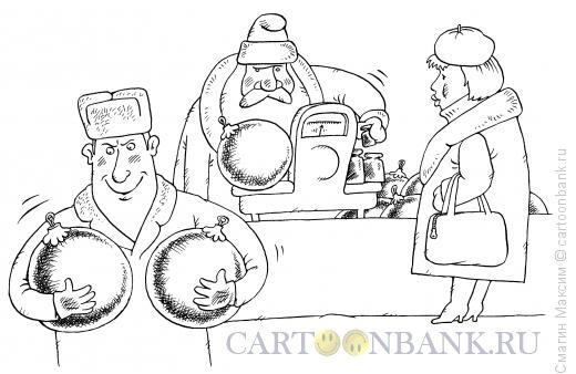 Карикатура: Новогодняя распродажа, Смагин Максим