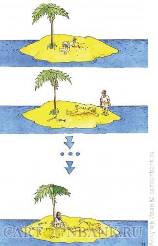 Карикатура: песчанная женщина, Анчуков Иван