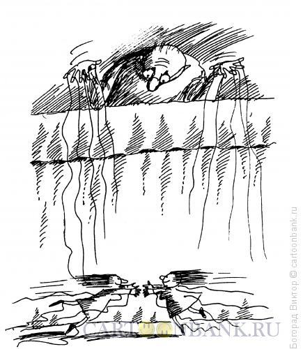 Карикатура: Порванные нити, Богорад Виктор