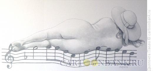 Карикатура: нотный стан, Далпонте Паоло