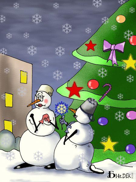 Карикатура: Под ёлочкой., БАД