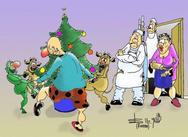 Карикатура: О приметах., БАД