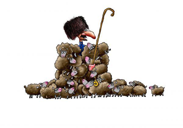 Карикатура: Чабан, Александр Ануфриев