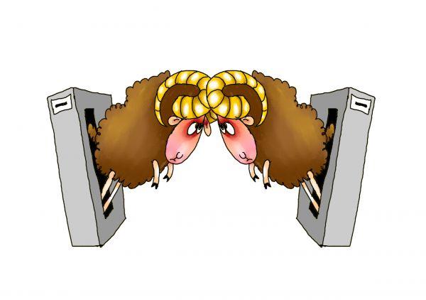 Карикатура: Два барана, Александр Ануфриев