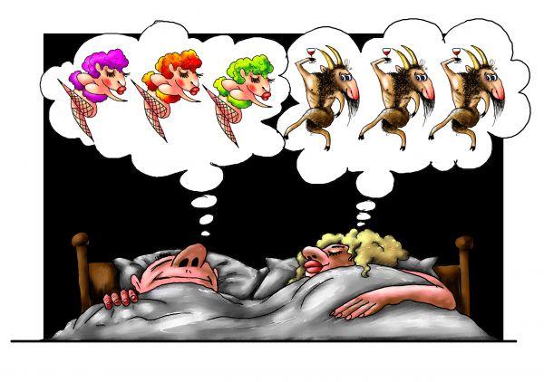 Карикатура: сны, Александр Ануфриев