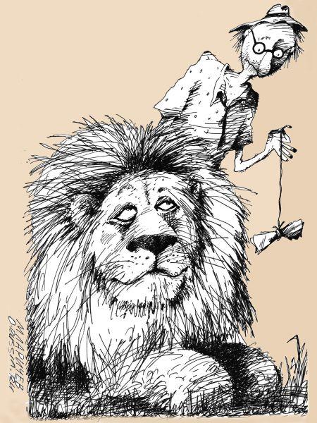 Карикатура: Не шути..., Михаил Ларичев
