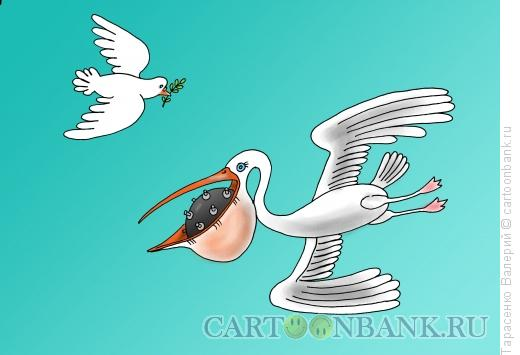 Карикатура: Птица войны, Тарасенко Валерий