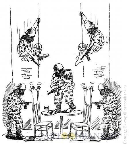 Карикатура: Захват переговорщиков, Богорад Виктор