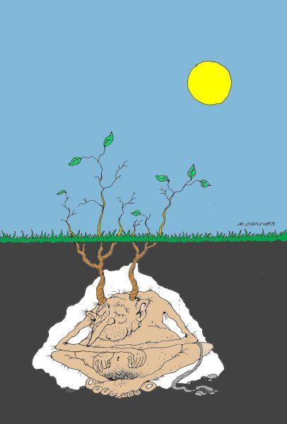 Карикатура: Сон, Михаил Ларичев
